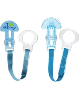 Mam Love & Affection Mommy Pacifier Clip, All Ages - 2ct Blue