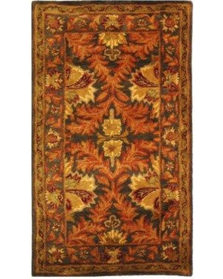 "Charlton Home Dunbar Hand-Tufted Wool Sage/Gold Area Rug CHLH6232 Rug Size: Rectangle 2'3"" x 4'"