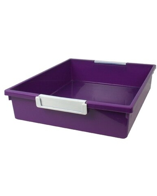 Tattle Cubby Bin with Label Holder Educators Resource Color: Purple