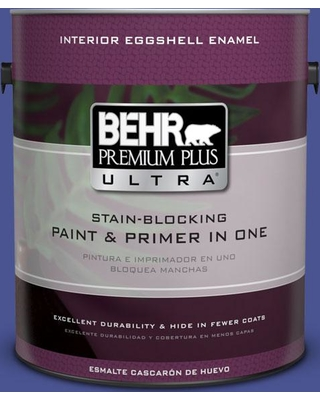 BEHR Premium Plus Ultra 1 gal. #P540-7 Canyon Iris Eggshell Enamel Interior Paint and Primer in One