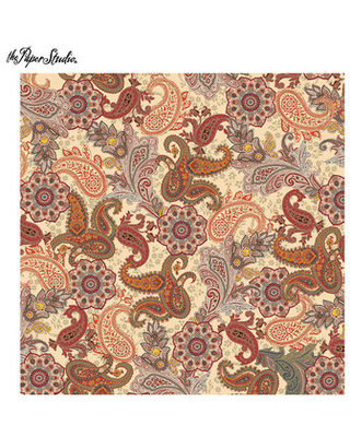 Special Prices On Fall Floral Paisley Scrapbook Paper 12 X 12
