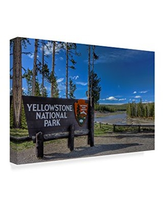 Trademark Fine Art 'Yellowstone National Park Sign' Canvas Art by Galloimages Online