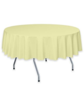 Solid 60-Inch Round Tablecloth in Maize