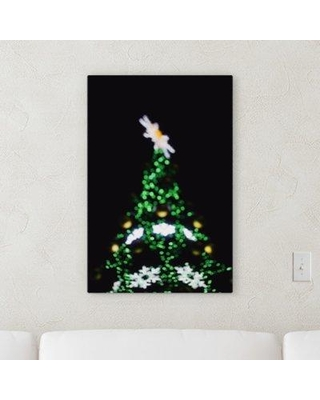 """Ebern Designs 'Blurred out (57)' Graphic Art Print on Canvas BF107245 Size: 14"""" H x 14"""" W x 2"""" D"""