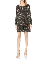 cupcakes and cashmere Women's Cayleen Floral Print Dress, Evergreen, 8