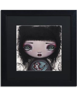 """Trademark Art 'Yuri' by Abril Andrade Framed Graphic Art ALI2062-B1 Size: 16"""" H x 16"""" W x 0.5"""" D Matte Color: Black"""