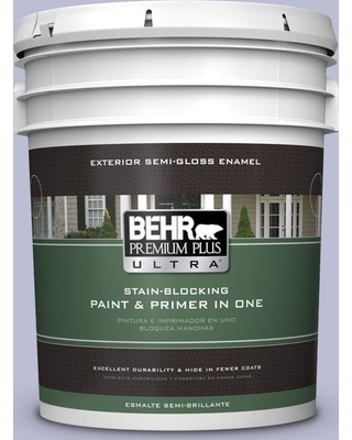 BEHR ULTRA 5 gal. #PPU15-15 Sweet Juliet Semi-Gloss Enamel Exterior Paint and Primer in One