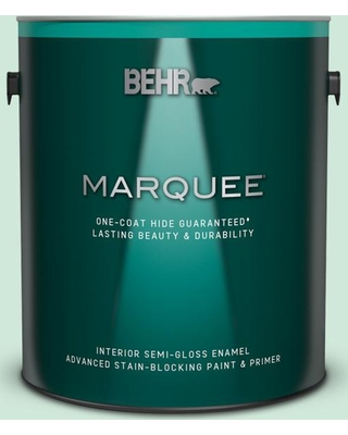 BEHR MARQUEE 1 gal. #M420-2 Green Aqua Semi-Gloss Enamel Interior Paint and Primer in One