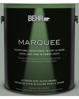 BEHR MARQUEE 1 gal. #MQ6-17 Green Trellis Semi-Gloss Enamel Exterior Paint and Primer in One