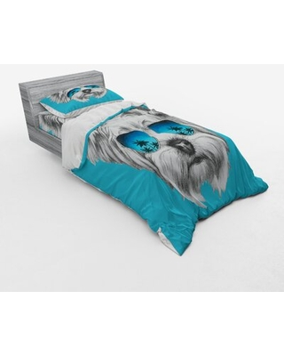 Yorkie Duvet Cover Set East Urban Home Size: Twin XL Duvet Cover + 2 Additional Pieces