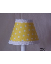 """Silly Bear Delightful Dots 11"""" Fabric Empire Lamp Shade LS-206 / LS-208 Shade Color: Yellow"""