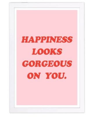 Wynwood Studio 'Looks Gorgeous' Typography and Quotes Framed Wall Art Print - Red, Pink
