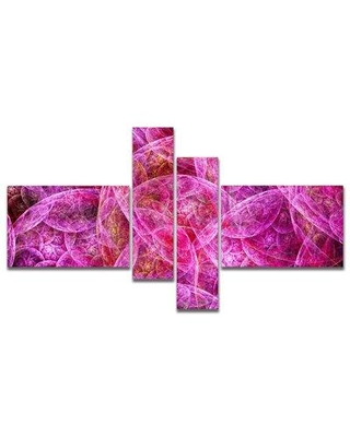 East Urban Home 'Pink Fractal Dramatic Clouds' Graphic Art Print Multi-Piece Image on Canvas FVIH9248