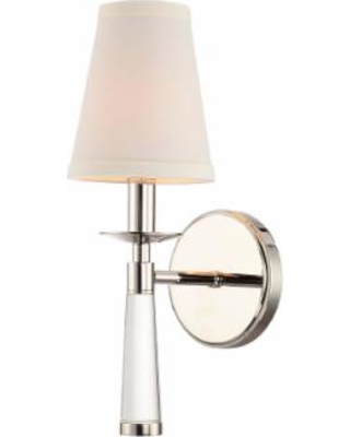 Crystorama Baxter 5 Inch Wall Sconce - 8861-PN
