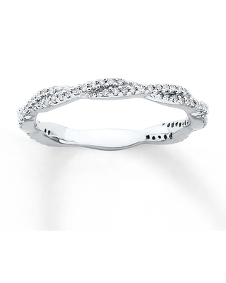 Stackable Diamond Ring 1/4 ct tw Round-cut Sterling Silver