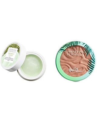 Physicians Formula The Perfect Matcha 3-in-1 Melting Cleansing Balm, 1.4 Ounce with Murumuru Butter Bronzer, 0.38 Ounce
