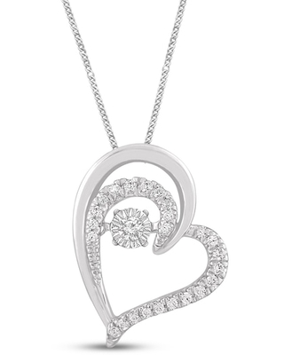 Jared The Galleria Of Jewelry Diamonds in Rhythm Necklace 1/6 ct tw Round Sterling Silver