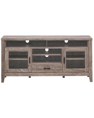 Don T Miss These Deals On Boyel Living 56 In Walnut Tv Stand Fits Tvs Up To 65 In With Glass Storage And Drawer Brown