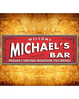 Fun Sign Factory BYOB Personalized Party Sign, Bar Sign, Bar Wall Art,  Drinking Wall Art, Bar Signs with Quotes, Custom Bar Sign - Fun Sign  Factory