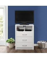 Coby 3-Drawer Dresser with Shelf, Matte White, by Hillsdale Living Essentials