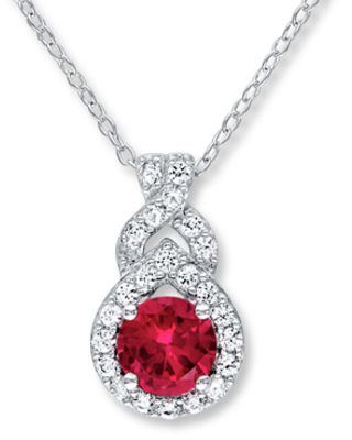 Lab-Created Ruby & Sapphire Sterling Silver Necklace