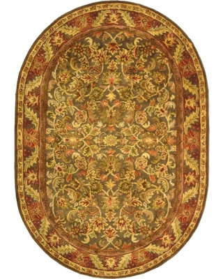 Safavieh Antiquity Green/Gold 8 ft. x 10 ft. Oval Area Rug