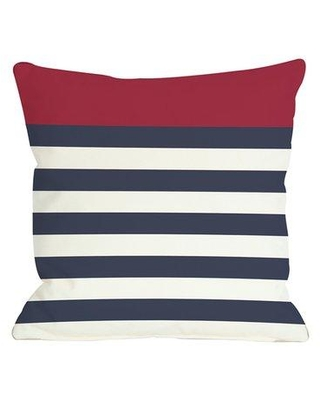 One Bella Casa Nautical Stripe Throw Pillow 70735PL18Z