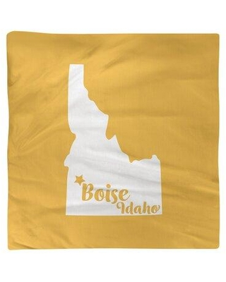 """East Urban Home Boise Idaho Napkin Small - Cotton Twill EBJK8815 Color: Yellow Size: 10"""" W x 10"""" D Material: Cotton"""