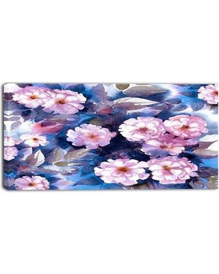 """Design Art Briar in Classical Style Floral Painting Print on Wrapped Canvas PT6345- Size: 20"""" H x 40"""" W"""