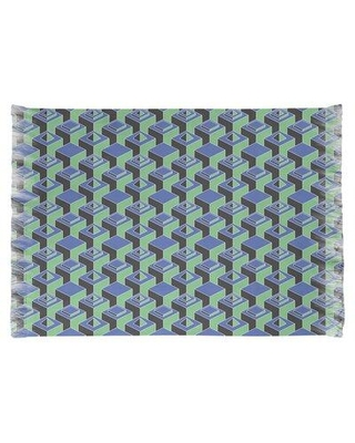 East Urban Home Skyscrapers Green/Gray Area Rug W001500710 Non-Skid Pad Included: No