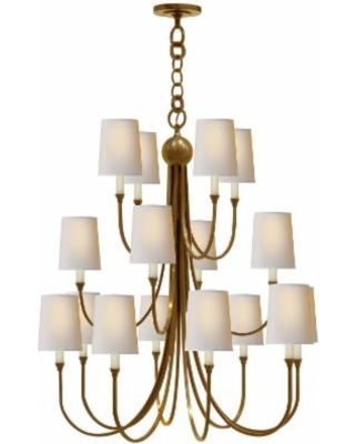 Visual Comfort and Co. Thomas O'Brien Reed 33 Inch 16 Light Chandelier - TOB 5019HAB-NP
