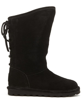 BEARPAW® Phylly Suede Laced-Back Boot with NeverWet™ - Red
