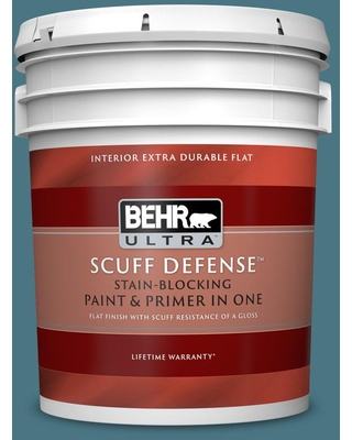 BEHR ULTRA 5 gal. #530F-6 Heron Extra Durable Flat Interior Paint & Primer