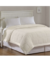 Bed Blanket Prospect All Season Hypoallergenic Microfiber Down Alternative with 3M Scotchgard Finish (Full/Queen Ivory
