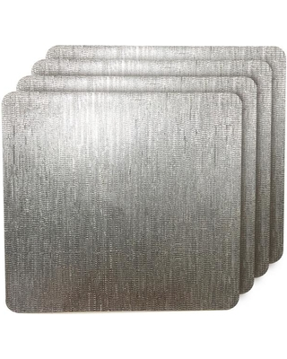 Dainty Home Galaxy Silver Metallic Square Placemat (Set of 4)