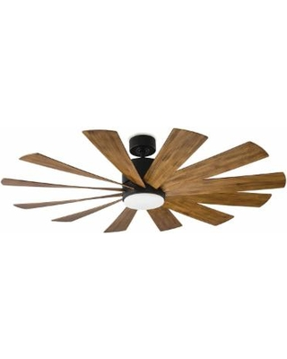 Modern Forms Windflower Outdoor Rated 60 Inch Ceiling Fan with Light Kit - FR-W1815-60L-MB/DK
