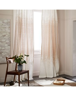 Echo Print Curtain Set Of 2 Gold Dust 48x96