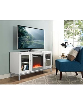 Big Deal On 52 Avenue Wood Fireplace Tv Console With Metal Legs