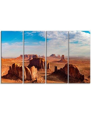 Design Art 'Monument Valley Aerial Sky View' 4 Piece Photographic Print on Wrapped Canvas Set PT11331-271