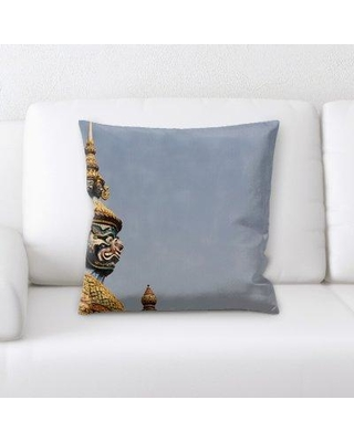 East Urban Home Statue Throw Pillow BF124041