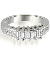 1.00 CT Channel Princess and Emerald Cut Diamond Wedding Band in 14KT (3.5)