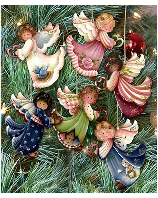 6 Piece Loving Angels Hanging Figurine Ornament Set The Holiday Aisle®