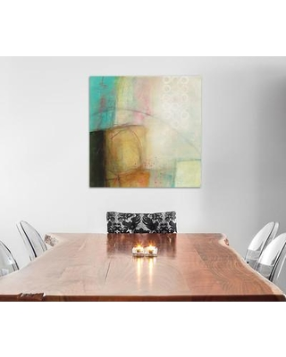 """East Urban Home Circles I Painting Print on Wrapped Canvas ESHM6670 Size: 12"""" H x 12"""" W x 1.5"""" D"""