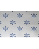 The Holiday Aisle Flurries Decorative Holiday Print White Indoor/Outdoor Area Rug HLDY5886 Rug Size: Rectangle 2' x 3'
