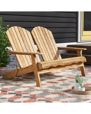 Dewitt Adirondack Wooden Garden Bench Union Rustic Color: Natural Stained