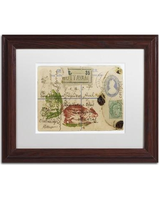 "Trademark Art ""Cabbagetail"" by Nick Bantock Framed Graphic Art ALI2179-W1114MF / ALI2179-W1620MF Size: 11"" H x 14"" W x 0.5"" D"