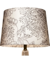 Floral Toile Stitch Lamp Shade Shell (White) Small - Threshold