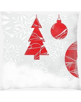 The Holiday Aisle Perrinton Christmas Indoor/Outdoor Canvas Throw Pillow W001229055