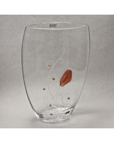 Womar Glass Precious Stone Agate and Carnelian Series Vase GD072P20