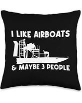 Best Airboat Riding Motorboat Propeller Designs Cool Gift for Men Women Airboating Watercraft Boat Throw Pillow, 16x16, Multicolor